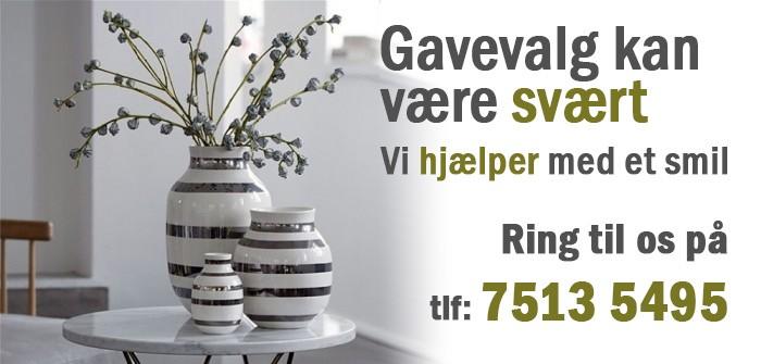 Jubilæumvase Kähler med sølv striber