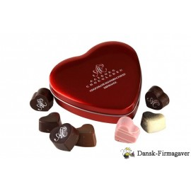 Røde hjerter, små, chokolade