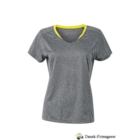 Løbe T-shirt to-farvet