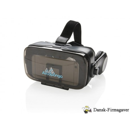 VR med integreret hovedtelefon, sort