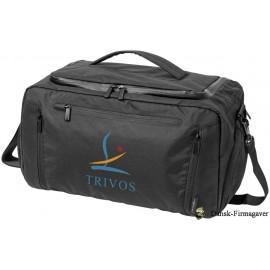 Deluxe duffel med tablet lomme, ensfarvet sort