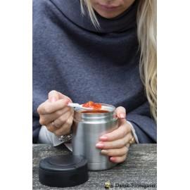 Vakumisoleret fødevarebeholder, sølvfarvede