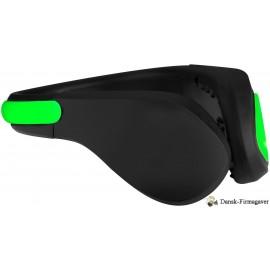 Usain LED-clip til sko, ensfarvet sort / lysegrøn