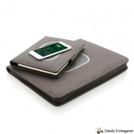 Air omslag til notesbog i A5- eller A4 format med trådløs opladning