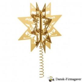 Topstjerne - forgyldt - julepynt - H.C. Andersen