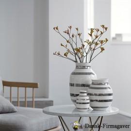 Kähler omaggio sølv stribet vase