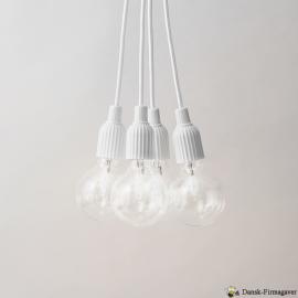Lyngby Klassiske riller Porcelænsfatning med ledning