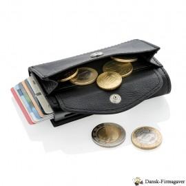 C-Secure RFID-kortholder og mønt/nøglepung, sort Farve sort