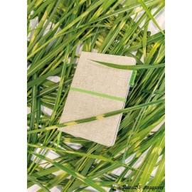 A5 Økologisk jutebomuld notesbog, grøn
