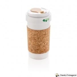 ECO PLA 400 ml krus med kork omslag