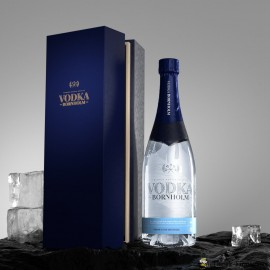 Vodka Bornholm i Champagne flaske inkl. gaveæske - Økologisk 70 cl.