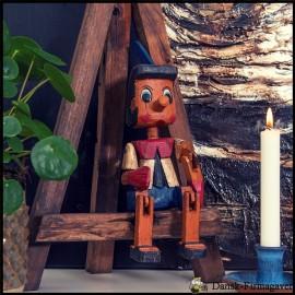 Pinocchio håndskåret