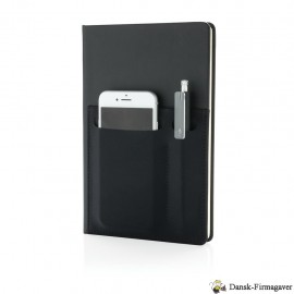 A5 luksus notesbog med telefon lomme