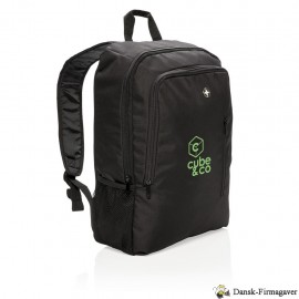 "Swiss Peak 17"" Business laptop rygsæk, sort"