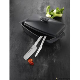 Weber stegefad/stegeso og to flotte knive
