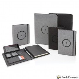 Air - RPET A5 notesbog omslag med trådløs opladning