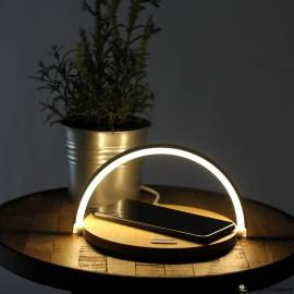 Tråd opladerstation med lampe 2in1