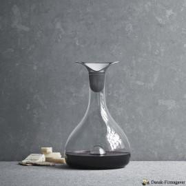 Glas karaffel og vin prop