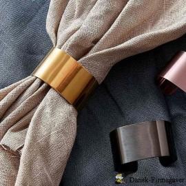 RAW - servietringe i guld - 4 stk. pr. pakke