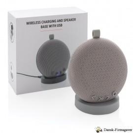 Trådløs højtaler med oplade base og USB