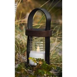 Aston Solar Lanterne, H26,5 cm, Sort/Brun