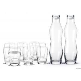 HOLMEGAARD 2 STK. KARAFLER & 6 GLAS