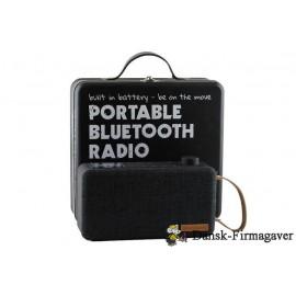 Bluetooth højttalere DAB+/FM, samt indbygget batteri