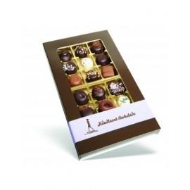 Gaveæske m. 18 forskellige dessertchokolader