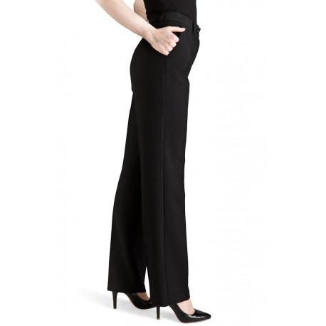 Bukserne har en smuk H-silhuette med vidde
