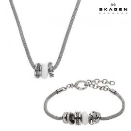 Skagen Design Gavesæt armbånd + kæde m/vedhæng