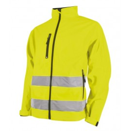 Unisex soft shell jakke i fluoriserende  - Lysekild 4641