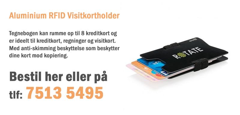 Aluminium RFID Visitkortholder
