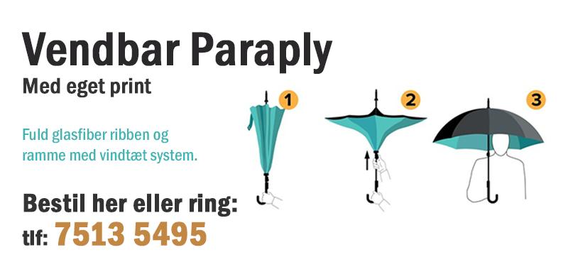 Paraply med eget print