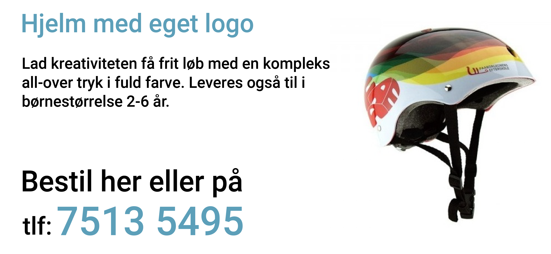 Hjelm med eget logo